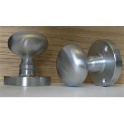 SATIN CHROME MORTICE KNOBS