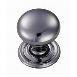 Victorian Cupboard Knob Chrome