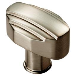 Art Deco Cupboard Knob Satin Nickel
