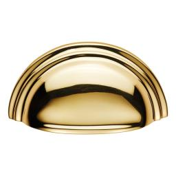 Victorian Cup Handle Polished Brass