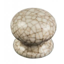 Porcelain Crackle Glaze Cupboard Knob Ivory