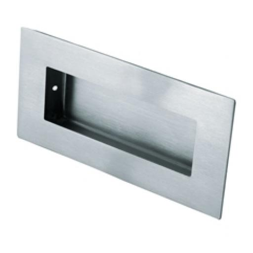 Stainless steel flush sliding door handle