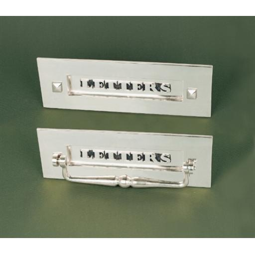 Period Letter Plate Polished Nickel