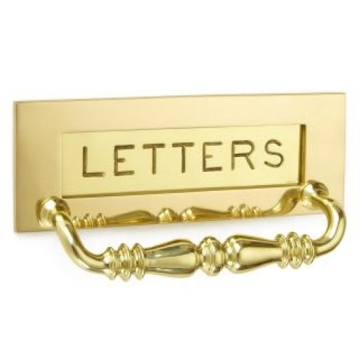 Letter plate with pull engraved letters