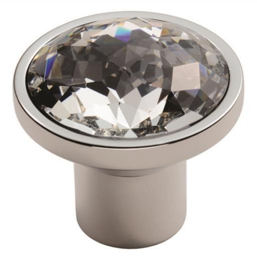 Round Crystal Cupboard Knob