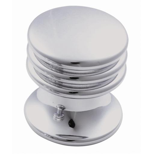 chrome cupboard knob ringed