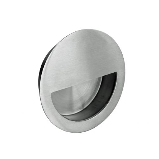 Round stainless steel flush handle