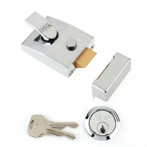 YALE 89 NIGHTLATCH POLISHED CHROME