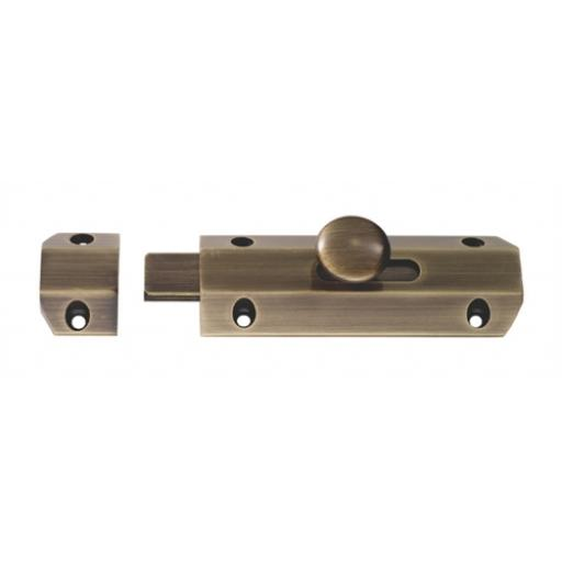 Sliding Door Bolt Smooth Bronze