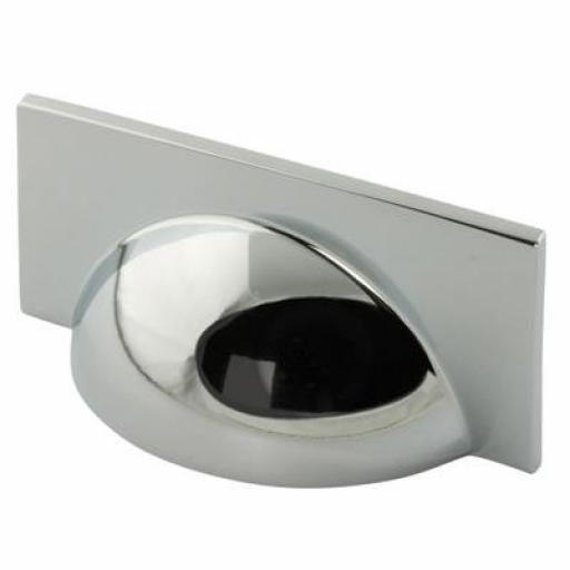 SQUARE CUP HANDLE POLISHED CHROME
