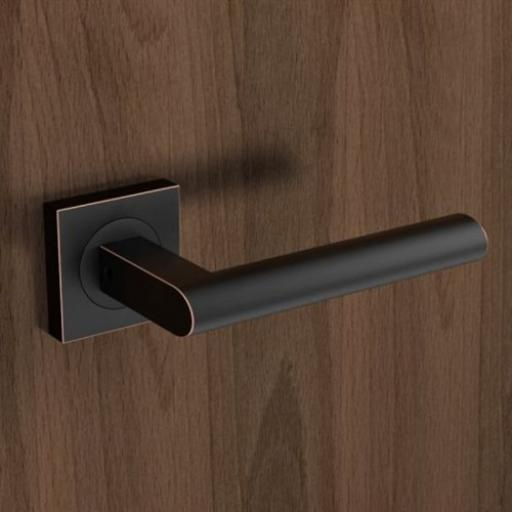 Karcher Madeira Oil Rubbed Bronze Lever On Square Rose