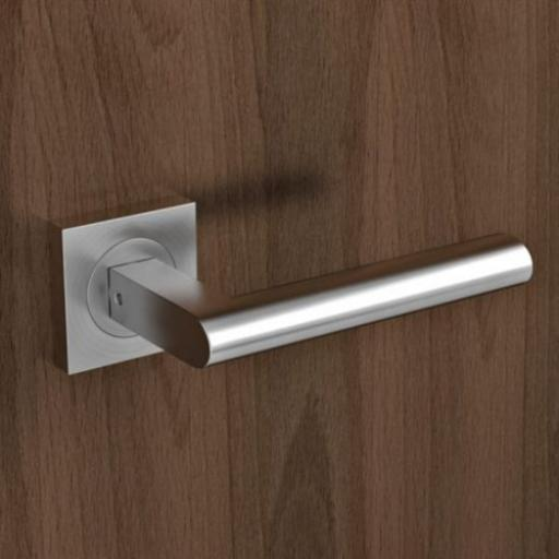 Karcher Madeira Satin Stainless Lever On Square Rose