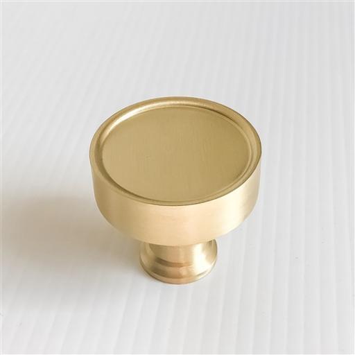 Satin Brass Flat Cabinet Knob