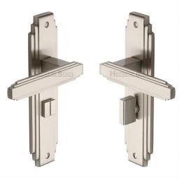 Heritage Brass Door Handle for Bathroom Astoria Design Satin Nickel finish.jpg