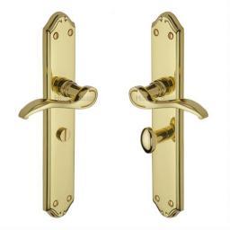 Heritage Brass Door Handle for Bathroom Verona Design Polished Brass .jpg