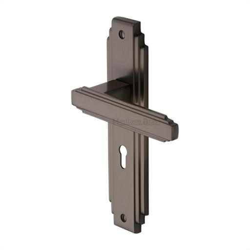 Heritage Brass Door Handle Astoria Design Matt Bronze
