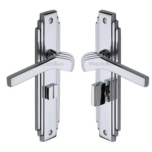 Heritage Brass Door Handle Bathroom Set Tiffany Design Polished Chrome Finish.jpg