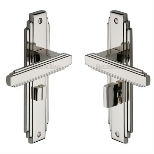 Heritage Brass Door Handle for Bathroom Astoria Design Polished Nickel finish.jpg