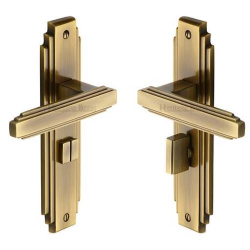 Heritage Brass Door Handle for Bathroom Astoria Design Antique finish.jpg