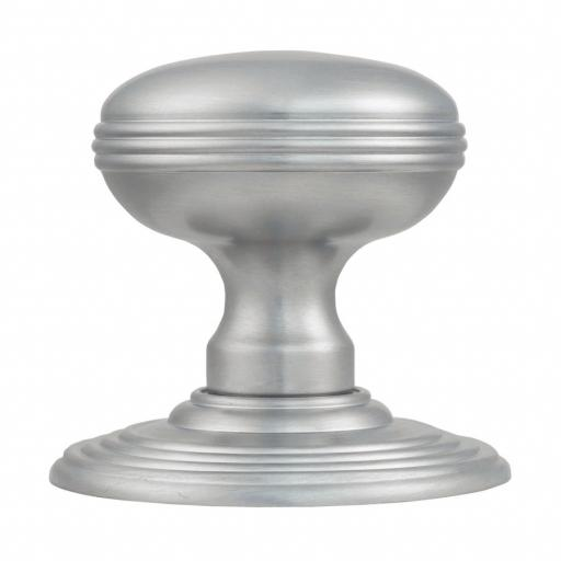 Delamain Ringed Knob in Satin Chrome