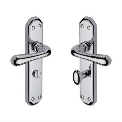 Heritage Brass Door Handle for Bathroom Charlbury Design Polished Chrome finish.jpg