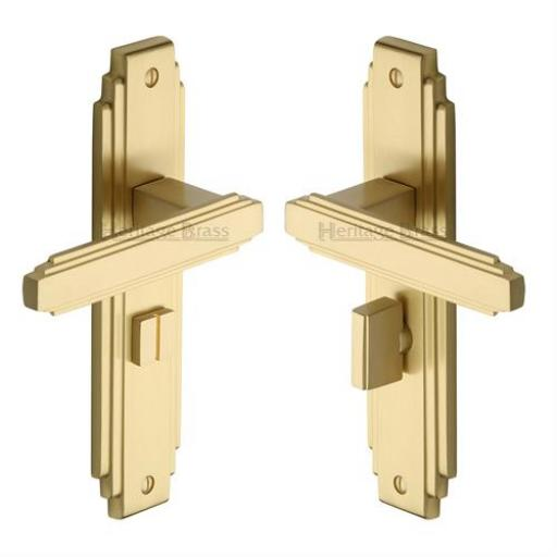 Heritage Brass Door Handle for Bathroom Astoria Design Satin Brass finish.jpg