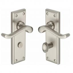 Heritage Brass Door Handle for Bathroom Edwardian Design Satin Nickel.jpg