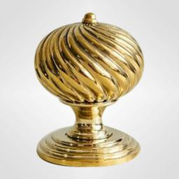 Burcot Knob in Brass