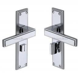 Heritage Brass Door Handle for Bathroom Atlantis Design Polished Chrome finish.jpg
