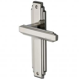 Heritage Brass Door Handle Lever Latch Astoria Design Polished Nickel finish.jpg