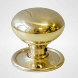Large Cottage Knob in Brass
