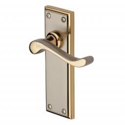 Heritage Brass Door Handle Lever Latch Edwardian Design Jupiter finish.jpg