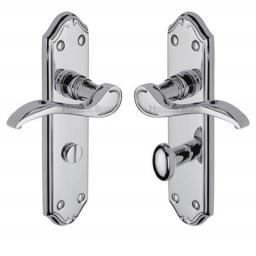 Heritage Brass Door Handle for Bathroom Verona Small Design Polished Chrome finish.jpg