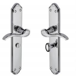Heritage Brass Door Handle for Bathroom Verona Design Polished Chrome.jpg