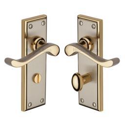 Heritage Brass Door Handle for Bathroom Edwardian Design Jupiter finish.jpg