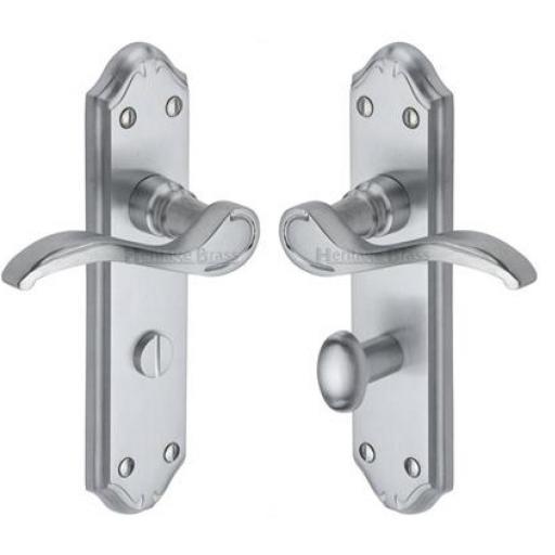 Heritage Brass Door Handle for Bathroom Verona Small Design Satin Chrome finish.jpg