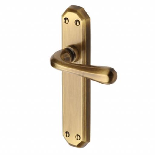 Heritage Brass Door Handle Lever Latch Charlbury Design Antique finish.jpg