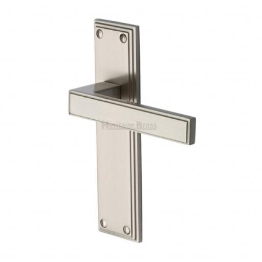 Heritage Brass Door Handle Lever Latch Atlantis Satin Nickel Finish.jpg