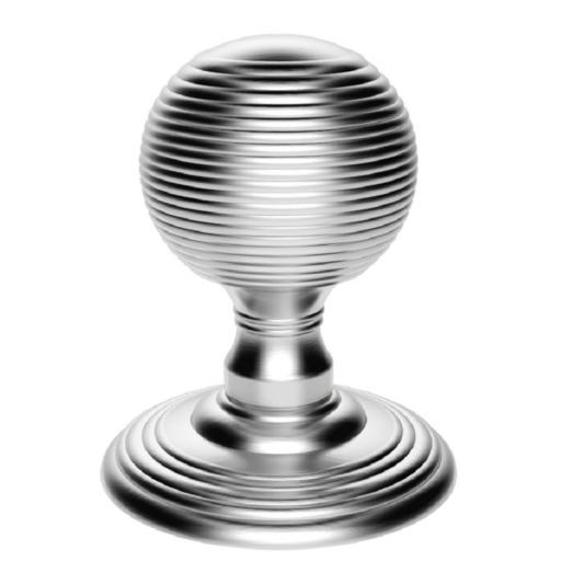 Delamain Reeded Knob in Polished Chrome