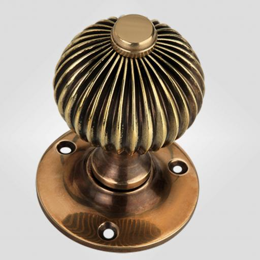 Regency Knob in Antique Brass
