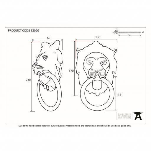 Lion's Head Door Knocker Polished Brass 3.jpg