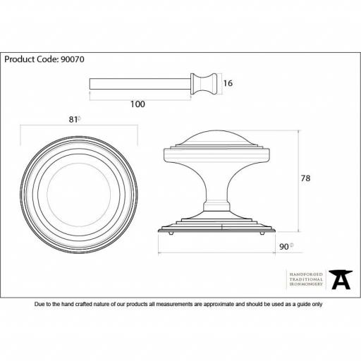 Black Art Deco Centre Door knob Dimensions.jpg