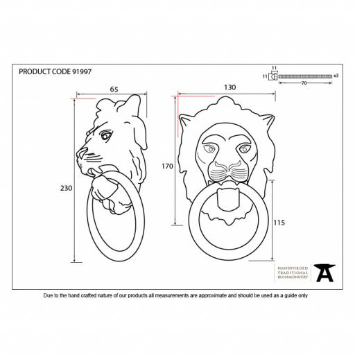 Lion's Head Door Knocker Polished Nickel 3.jpg