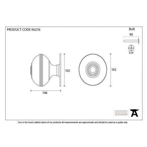 Polished Nickel Prestbury Centre Door Knob Dimensions.jpg