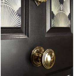Aged Brass Art Deco Centre Door knob 4.jpg