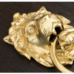 Lion's Head Door Knocker Polished Brass 4.jpg