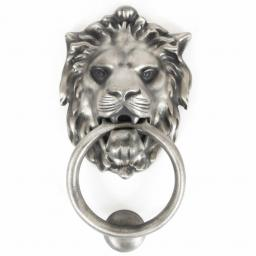 Lion's Head Door Knocker Antique Pewter.jpg
