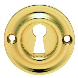 Small Escutcheon Polished Brass