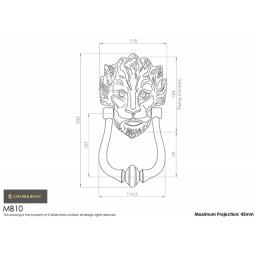 Lion Head Door Knocker Dimensions MB10.png