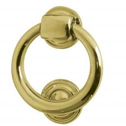 Ring Door Knocker Polished Brass